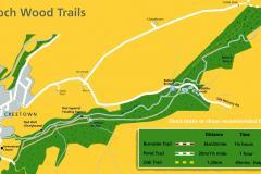 Balloch Wood, Creetown Site Map