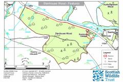 SWT Stenhouse Wood Reserve Tynron Site Map