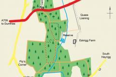Eskrigg Reserve, Lockerbie Site Map